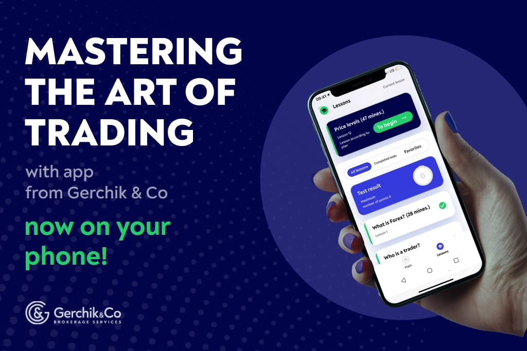 Trading training with an app from Gerchik & Co