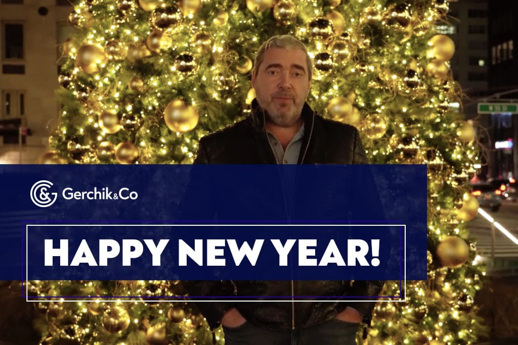 New Year Wishes from Alex Gerchik and broker Gerchik & Co