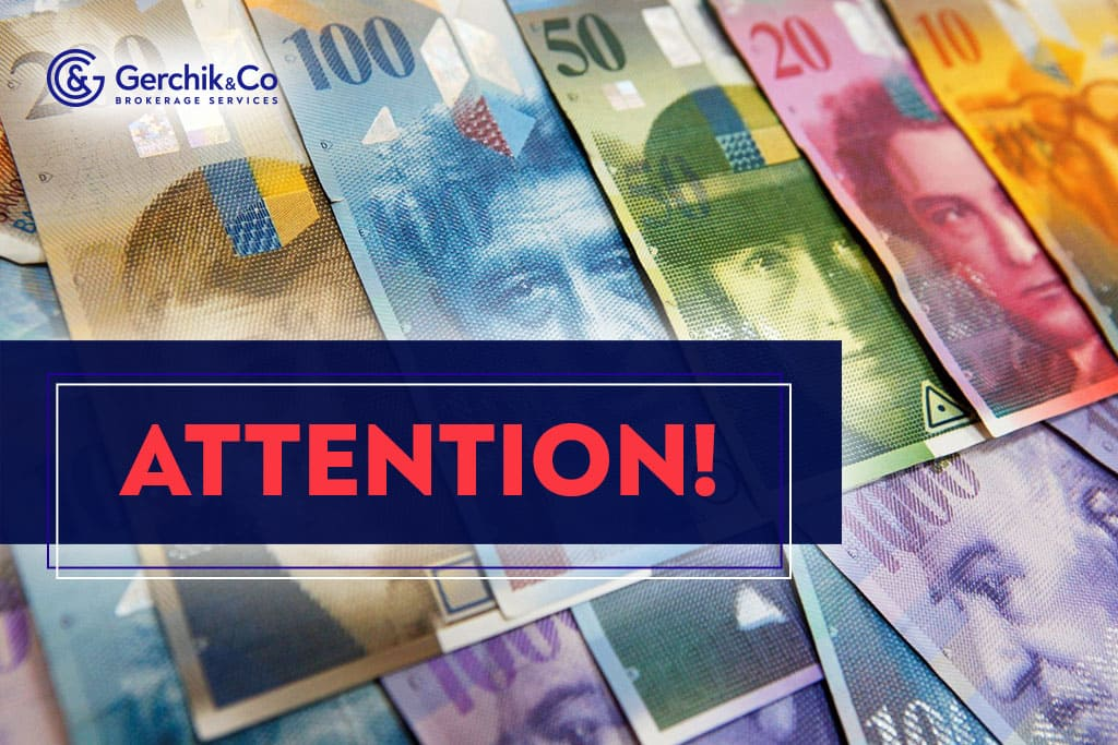 Attention! Margin Requirements for CHF Pairs to Be Changed