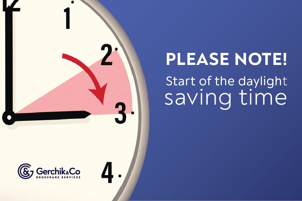 Attention! The trading schedule will be changed due to the beginning of the daylight-saving time
